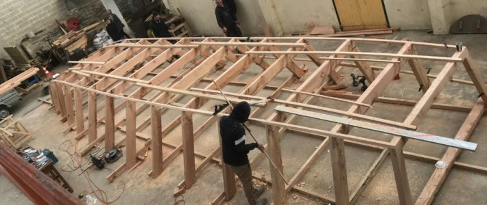 Construction de la toue cabanée